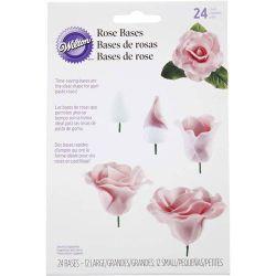 Wilton Rose bases 24 pc