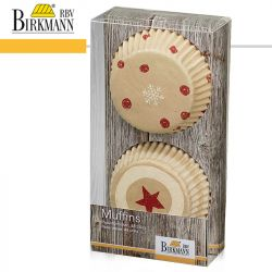 Birkmann Muffin Paper Form Little Christmas 48pc