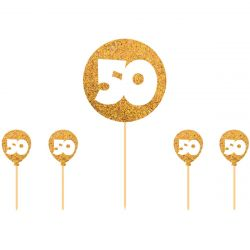 Folat Cake Topper 50 jaar Goud