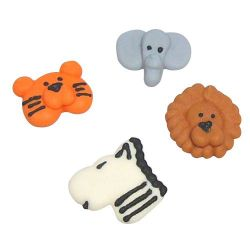 Culpitt Suiker Decoratie Animal Faces pk/12
