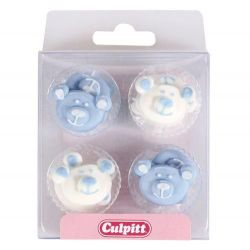 Culpitt Blue Baby Bear Sugar Decorations
