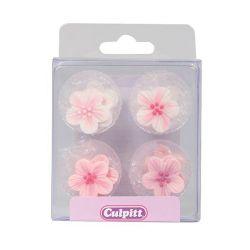 Culpitt Suikerdecoratie Bloemen Roze Pk/12