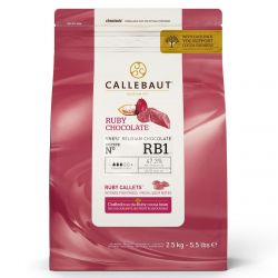 Callebaut Chocolade Callets Ruby 2,5kg