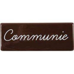 Communie Schildje Chocolade 3st