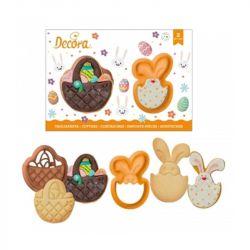 Decora Cookie Cutters Rabbit And Basket 2/pcs