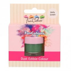 Funcakes Funcolours Dust Edible Colour Holly Green