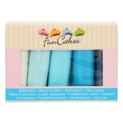 Funcakes Rolfondant Multipack Blue Colour Palette