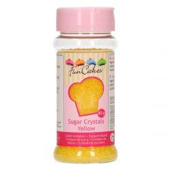 Funcakes Sugar Crystals Yellow