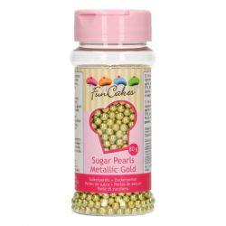 Funcakes Sugar Pearls Gold 4mm