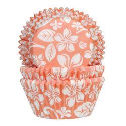 House of Marie Baking Cups Aloha Bloem Abrikoos 50/pcs