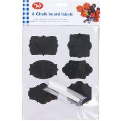 6 chalk board labels