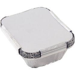 Tala Foil Container 15X12X5Cm Pk10 W.Lids