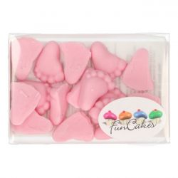 FunCakes Babyvoetjes roze 16st