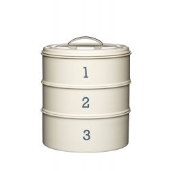 3 tier storage tin cream