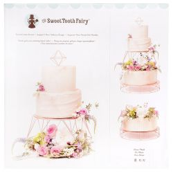 Tiered cake stand rose