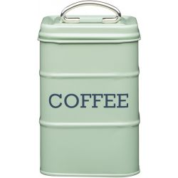 Living Nostalgia Coffee Tin Steel Green