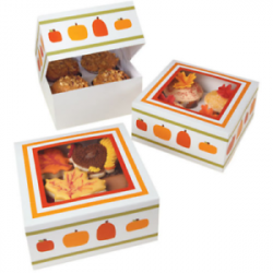 Wilton Autumn Medium Treat Box pk/3