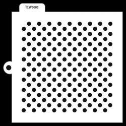 TCW Cookie & Cake Stencil Swiss Dots