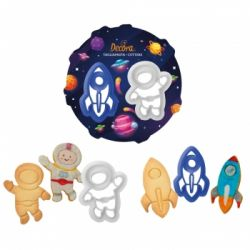 Decora Plastic Cookie Cutters Space