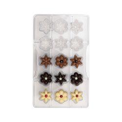 Decora Polycarbonaat Chocolade Vorm Flowers