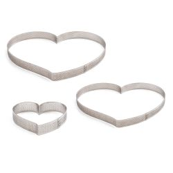 Decora Perforated Stainless Steel Heart 18x16x3,5cm
