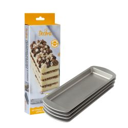 Decora Layers Cake Pan Set Rechthoekig set/4