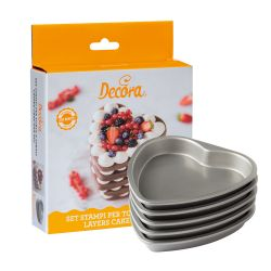 Decora Layers Cake Pan Set Heart set/5