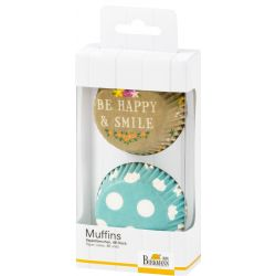 Birkmann Baking Cups Be Happy & Smile Dots 48/pc