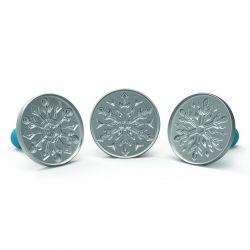 Nordic Ware Cookie Stamps Snowflakes Frozen set/3