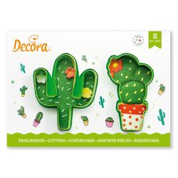 Decora Plastic Cookie Cutters Cacti