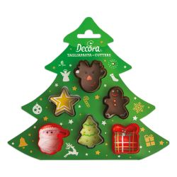 Decora Cookie Cutters Christmas Set/6