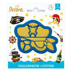 Decora Plastic Cookie Cutter Pirate Mask