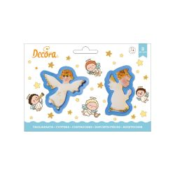 Decora Plastic Cookie Cutter Angels