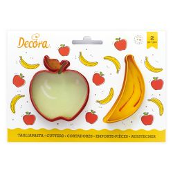Decora Plastic Cookie Cutters Apple & Banana