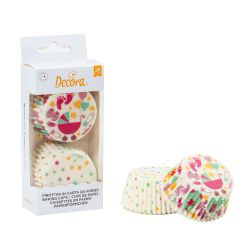 Decora Baking Cups Baby Shower Girl 50/pc