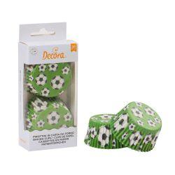 Decora Baking Cups Soccer 36/pc