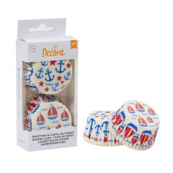 Decora Baking Cups Sailing 36/pc
