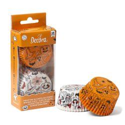 Decora Baking Cups Halloween Pumpkin & Ghost 36/pc