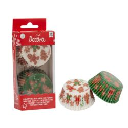 Decora Baking Cups Christmas Gingerbread Family 36/pc