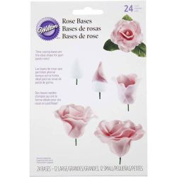 Wilton Rose bases 24 pc