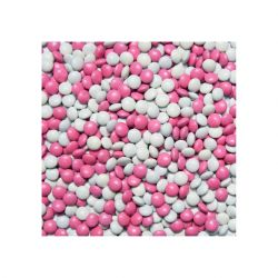 Babysweeties Chocolade Dragee Mini Roze-Wit 900gram