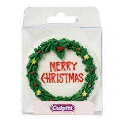 Culpitt Suiker Decoratie Christmas Wreath Plaque