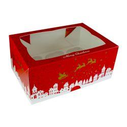 Merry Christmas 6 Cupcake Box