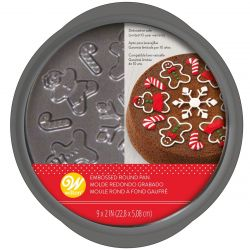 Wilton Embossed Round Pan Gingerbread 22,8cm