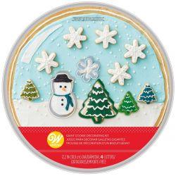 Wilton Cookie Pan Kit Snow Globe