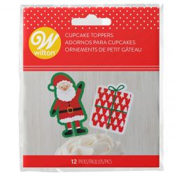 Wilton Cupcake Toppers Santa Claus pk/12
