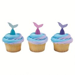 BWL Cupcake Toppers Mermaid Tails 6/pc