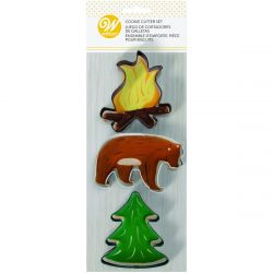 Wilton Cookie Cutters Fire/Bear/Tree set/3