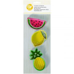 Wilton Cookie Cutters Pineapple/Watermelon/Lemon set/3