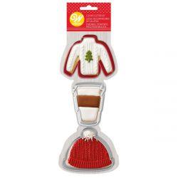 Wilton Cookie Cutter Set Sweater/Hat/Latte